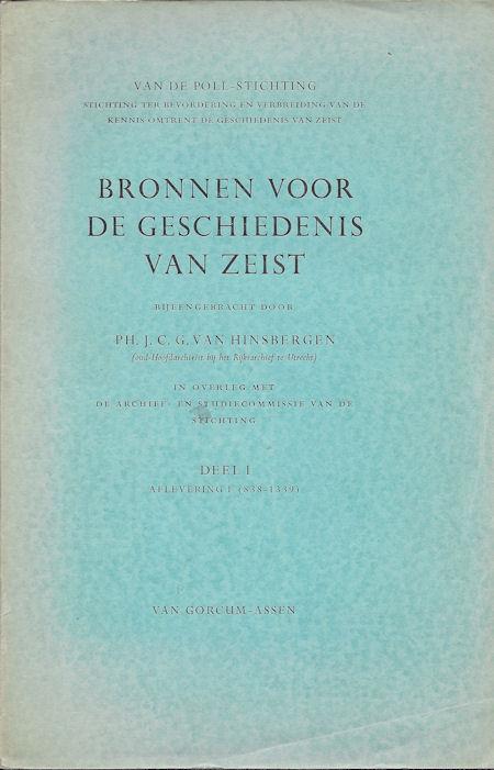 Bronnen voor de geschiedenis van Zeist deel 1, afl. 1 (838-1339)