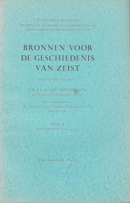 Bronnen voor de geschiedenis van Zeist deel 1, afl. 3 (1400-1450)