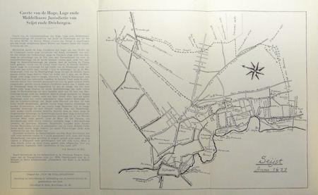 Schematische nadruk van kaart uit 1677