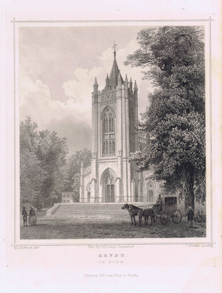 Nadruk prent Oude Kerk