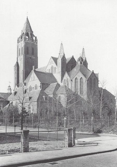Prentbriefkaart Kraal, St. Josephkerk